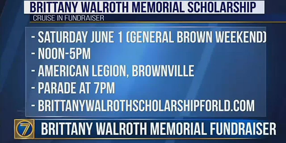 Cruise-in to benefit Brittany Walroth scholarship fund