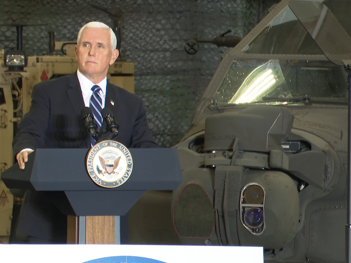 More from Vice President Pence's visit and soldiers' reaction