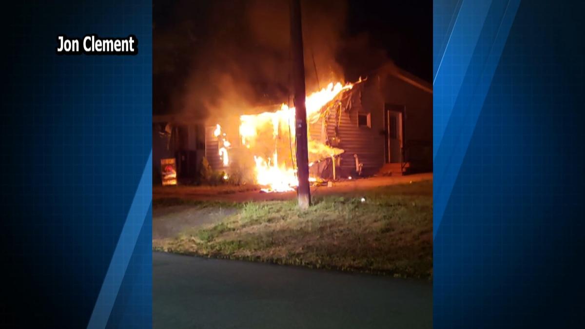 Responders knock down blaze at Dexter home