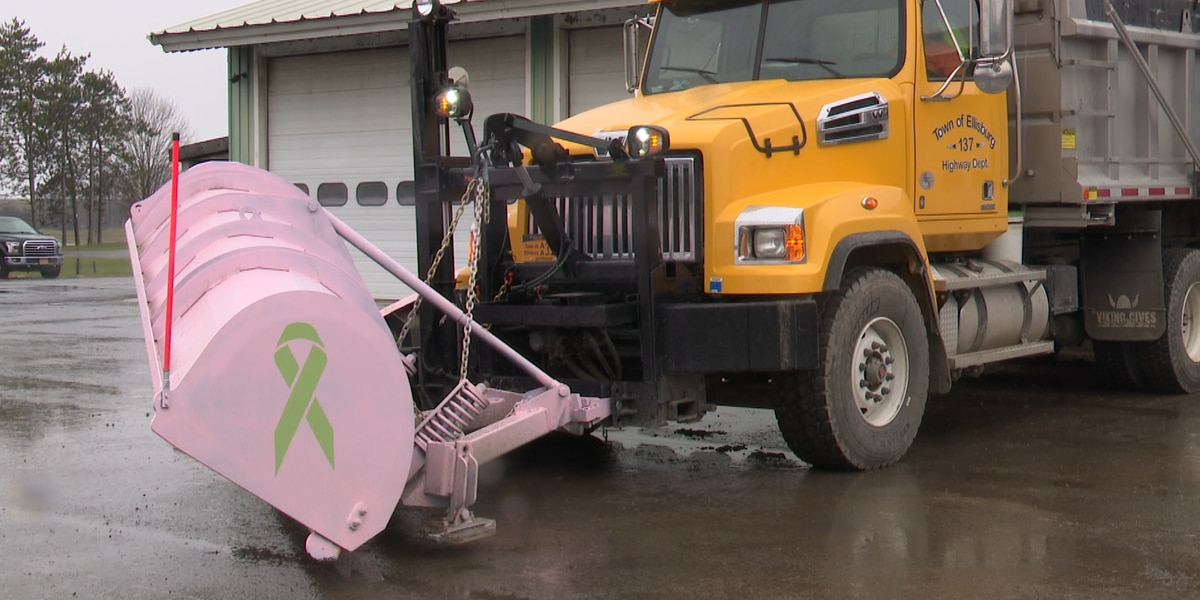 Pink plows in Ellisburg honor highway department employees