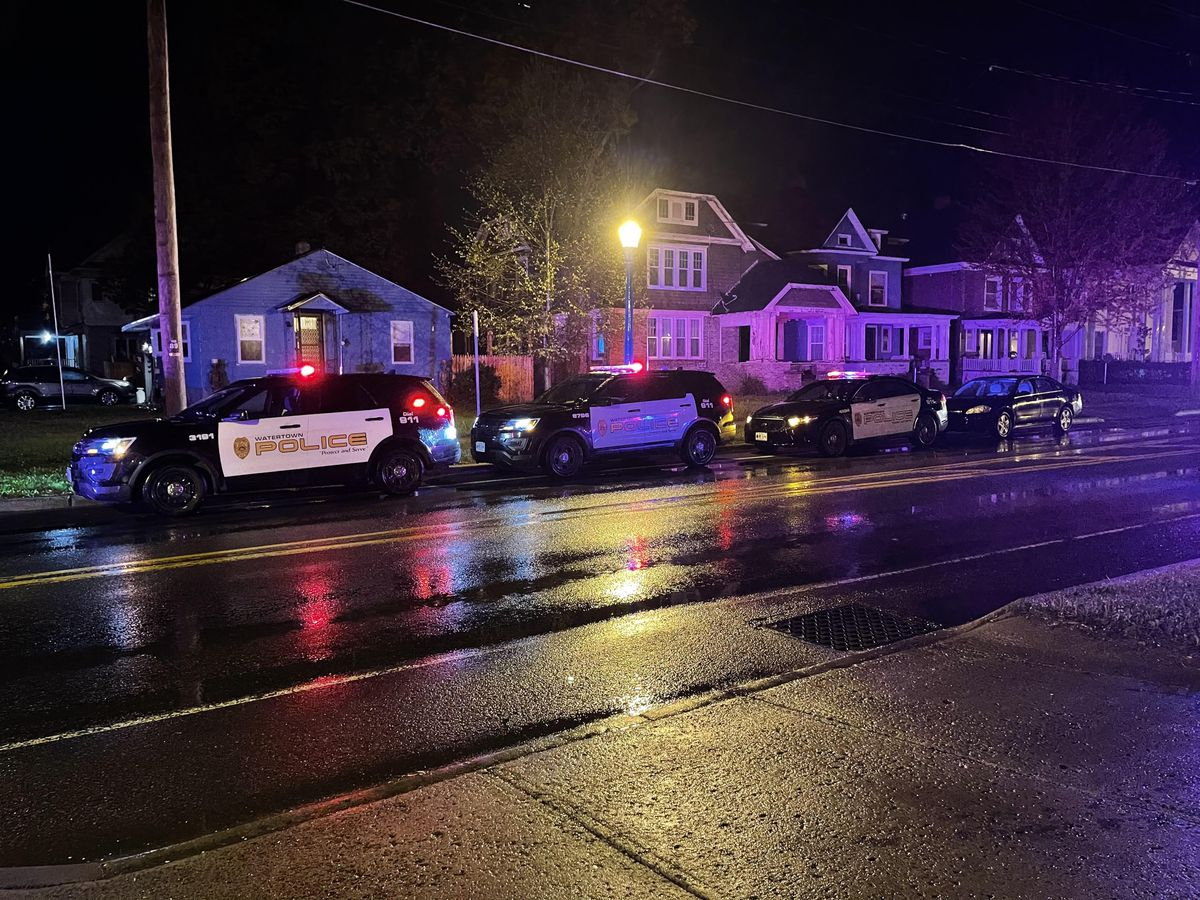 Police investigate gunshots on California Avenue in Watertown