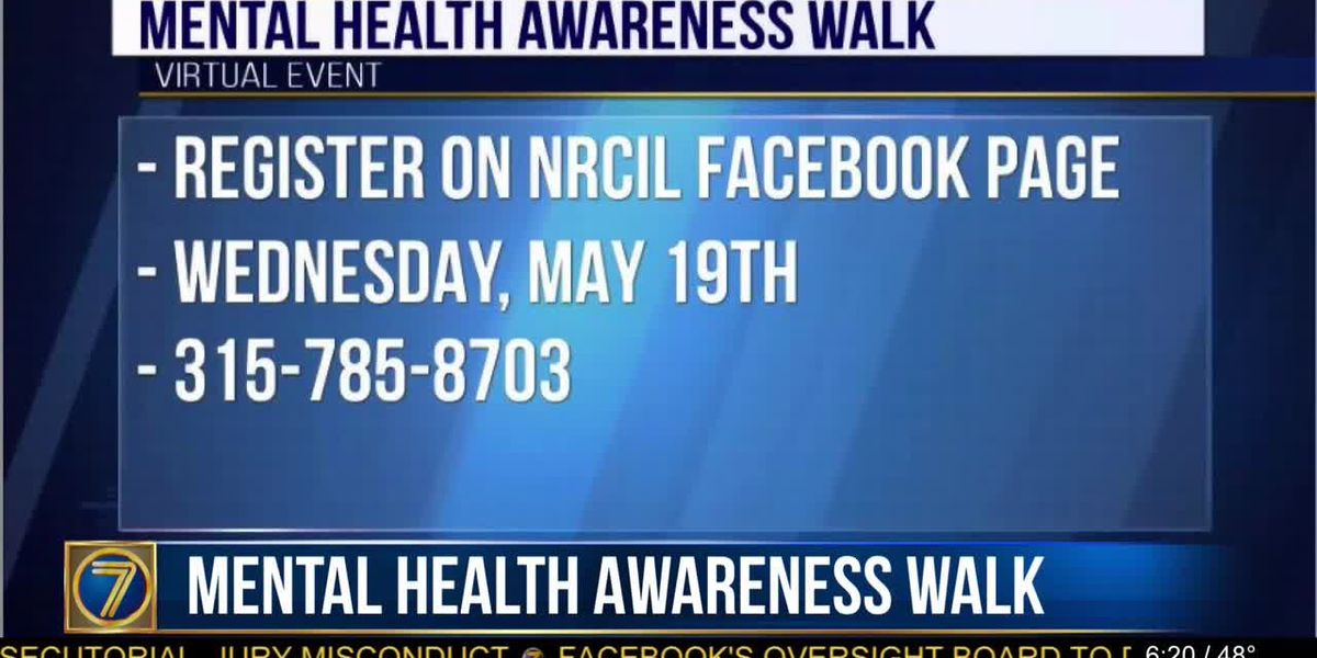 Virtual Mental Health Awareness Walk is later this month