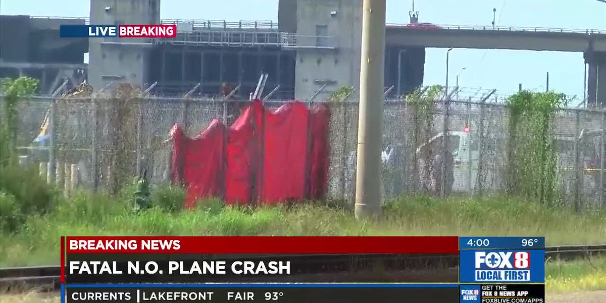 Two dead after plane crashes in New Orleans East