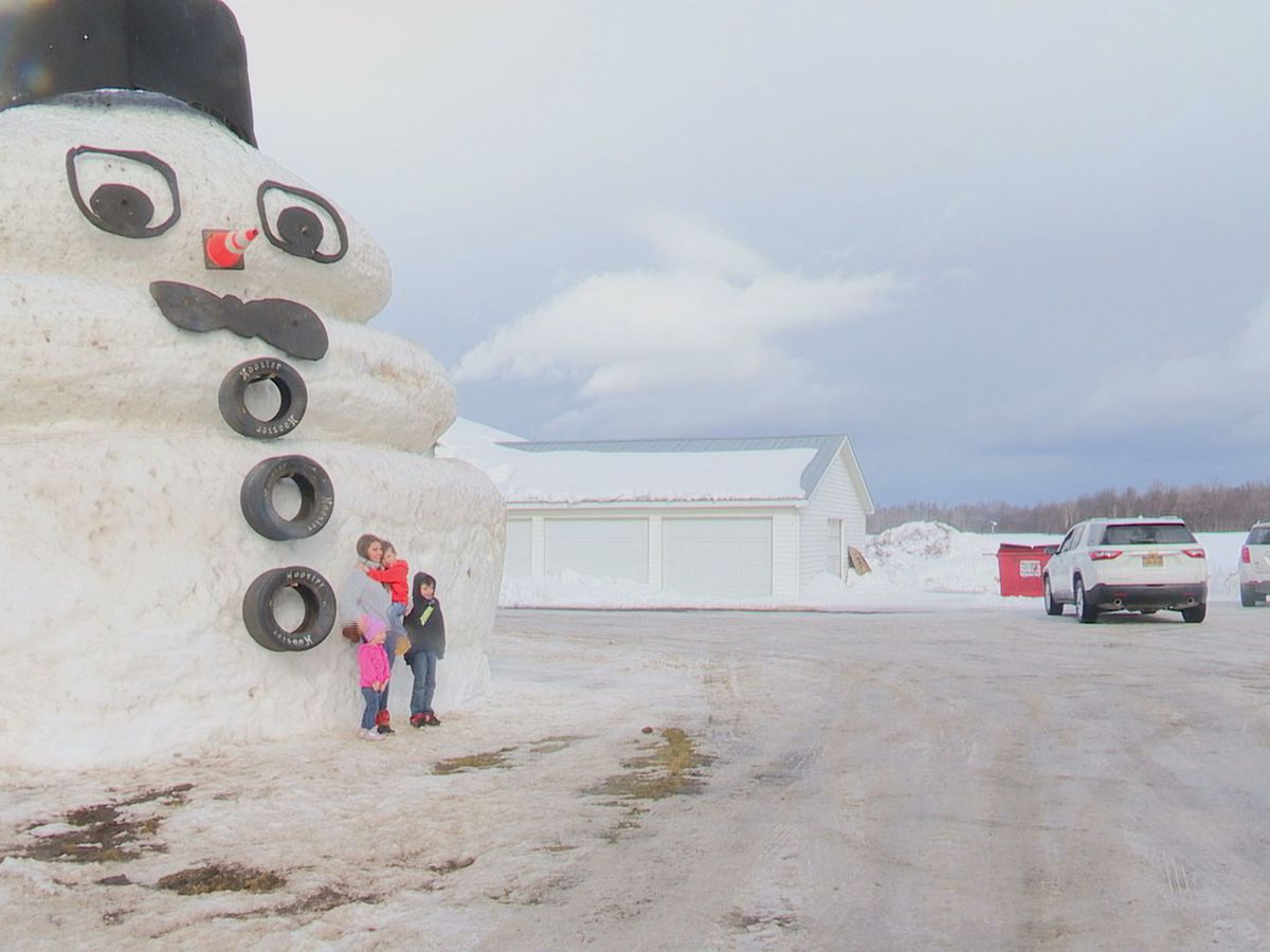 He's big and he's back! Humongous snowman a sight to see in Champion
