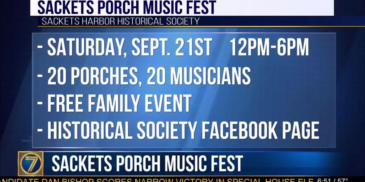 Sackets Porch Music Fest next week