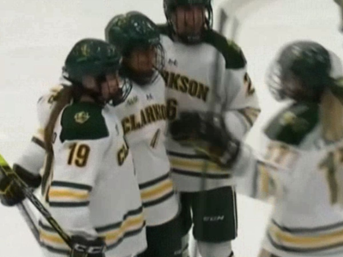 Clarkson ladies down St. Lawrence on the ice