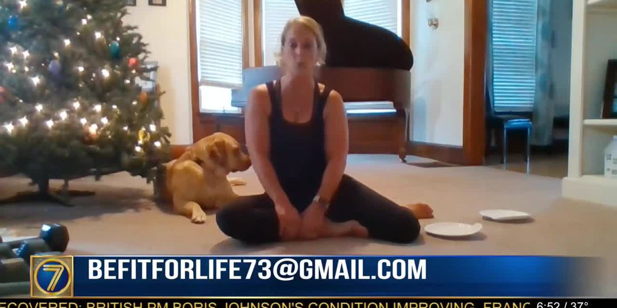 Fitness: Jamie Kalk at home with paper plates