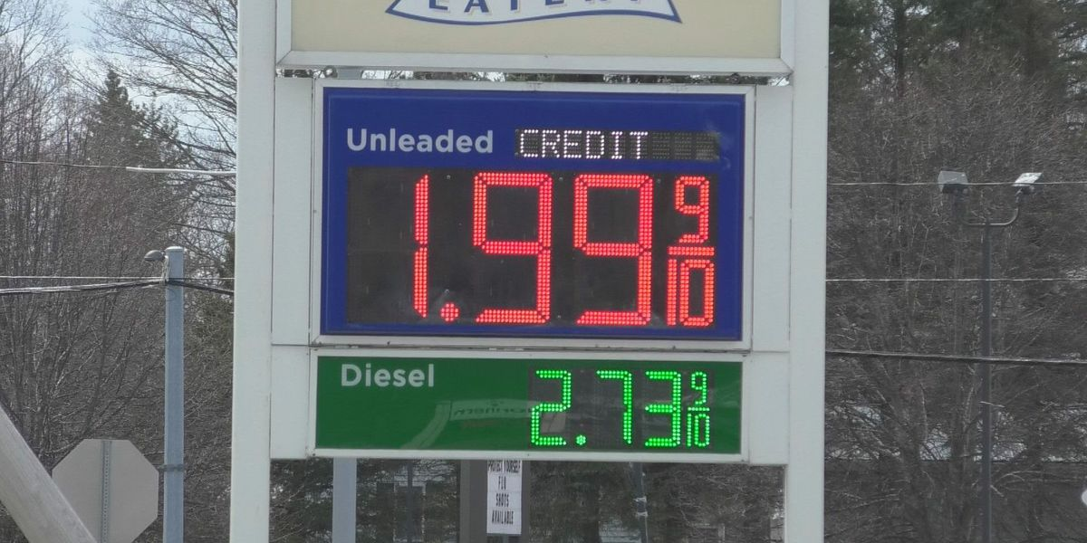 Gas prices dip below $2 per gallon in north country
