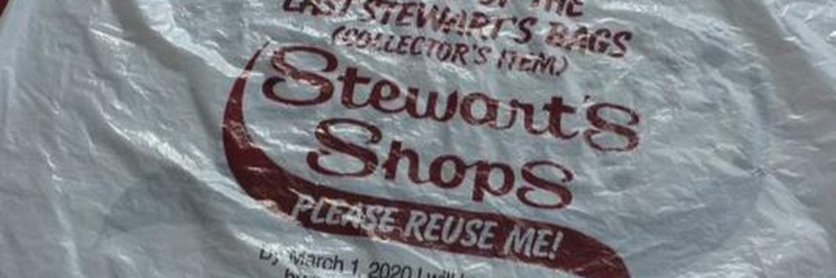 wwny Stewart's Shops offering 'collector' plastic bags