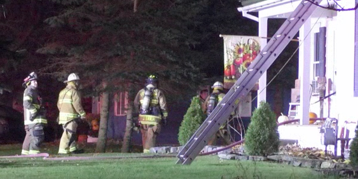 Fire crews respond to Calcium house fire
