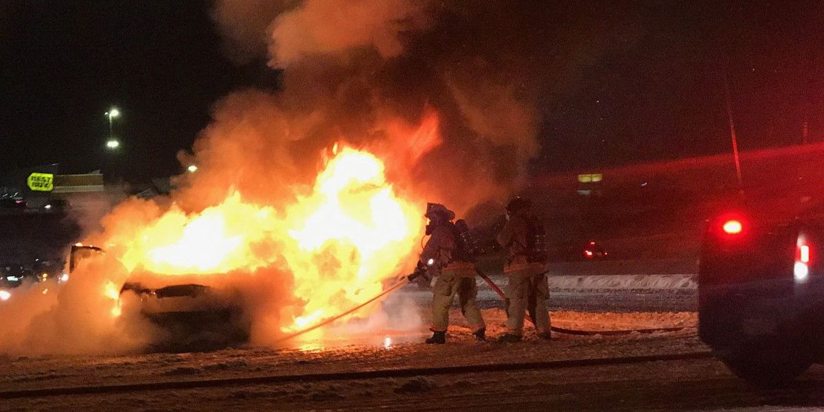 Vehicle bursts into flames near Watertown's Arsenal Street