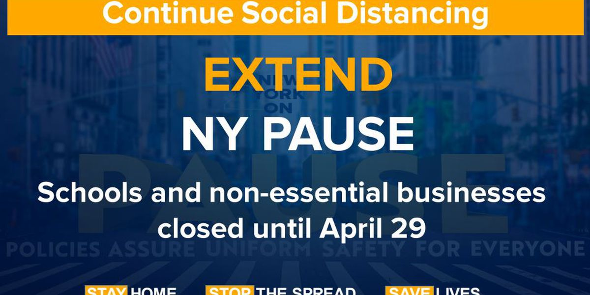 Cuomo keeping schools, businesses closed until April 29 as 'social distancing appears to be working'