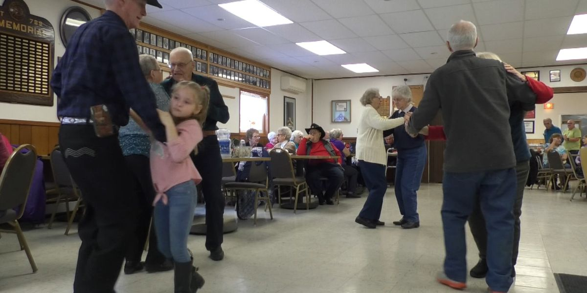 Fiddling and dancing at Carthage American Legion