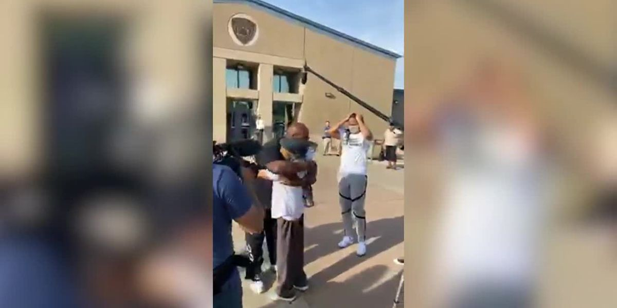 WNBA star Moore celebrates release of man she helped free from prison