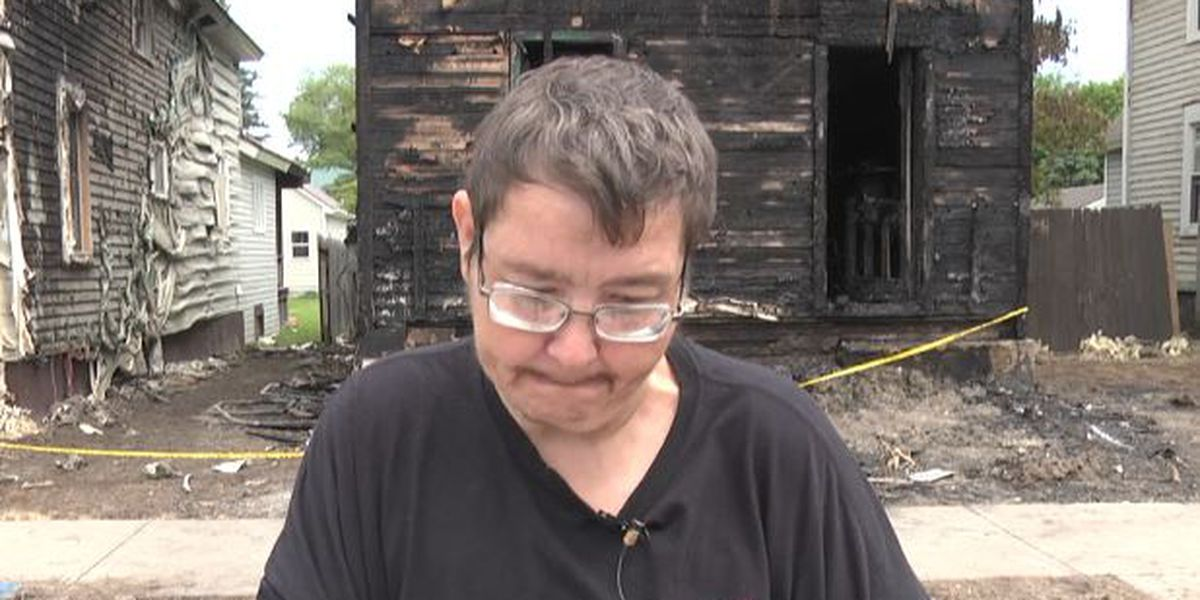 Ogdensburg man sees outpouring of support after fire destroys his home