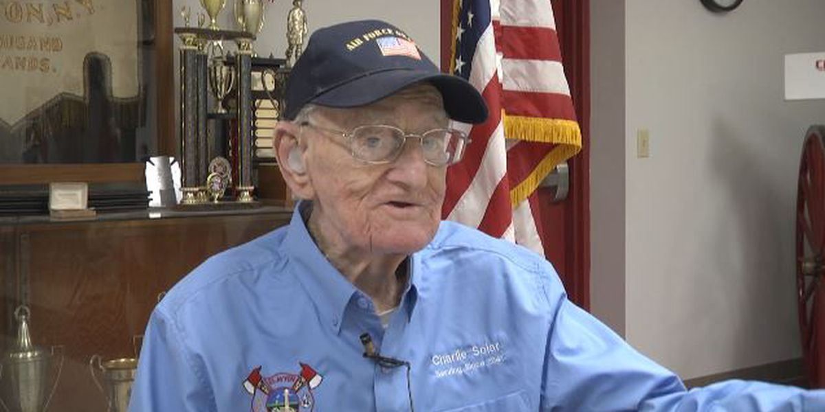 97 year old firefighter responds to alarm