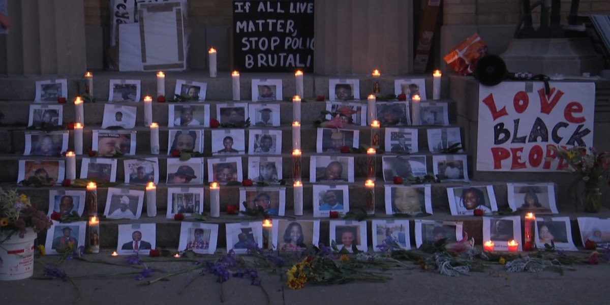 Candlelight vigil in Potsdam honors black lives lost to police brutality