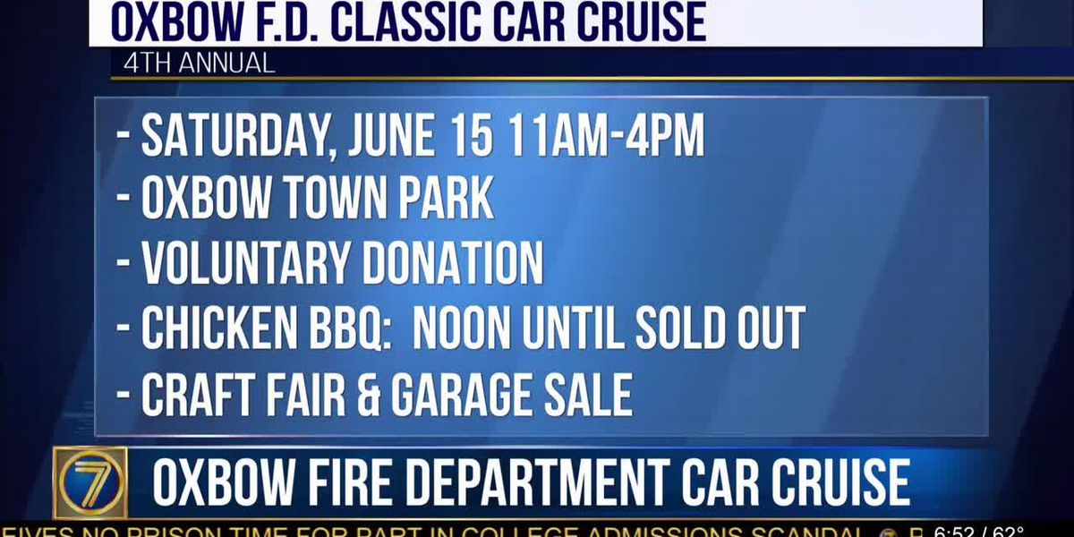 Oxbow firefighters to host 4th annual classic car cruise
