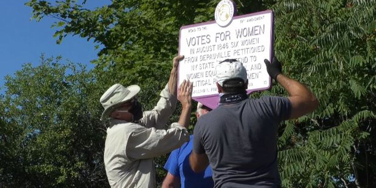 History markers honor Depauville suffragettes