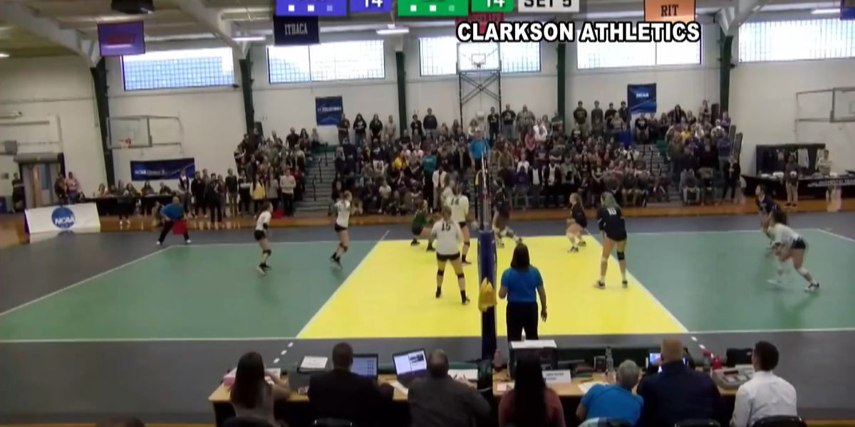 Sunday Sports: Clarkson women's volleyball advances to Elite 8