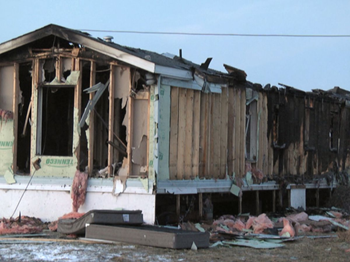 St. Lawrence County trailer home destroyed by fire