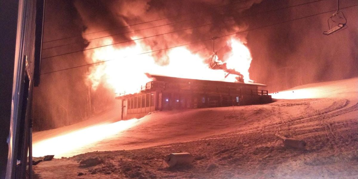Fire destroys lodge on Whiteface Mountain