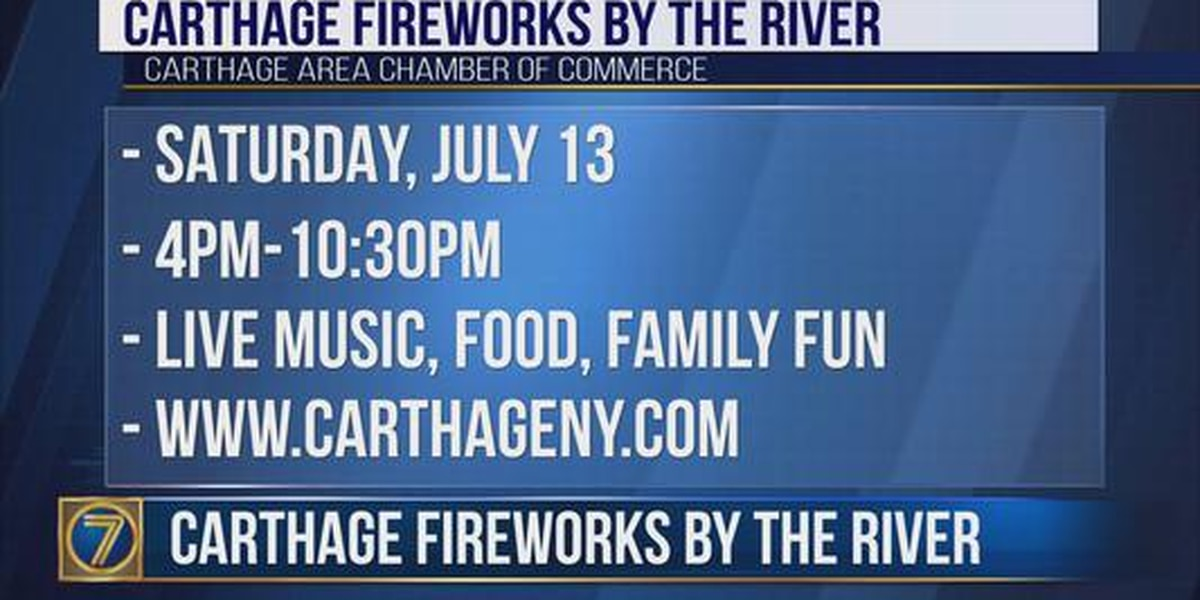 Fireworks in Carthage July 13th