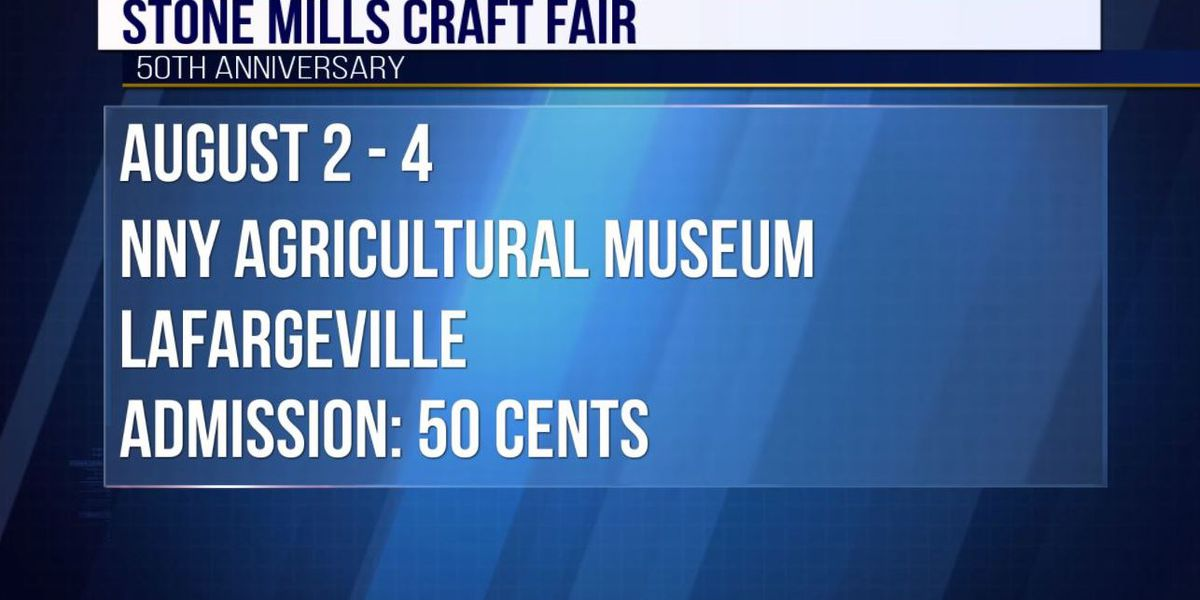 Stone Mills Craft Fair to celebrate 50th year