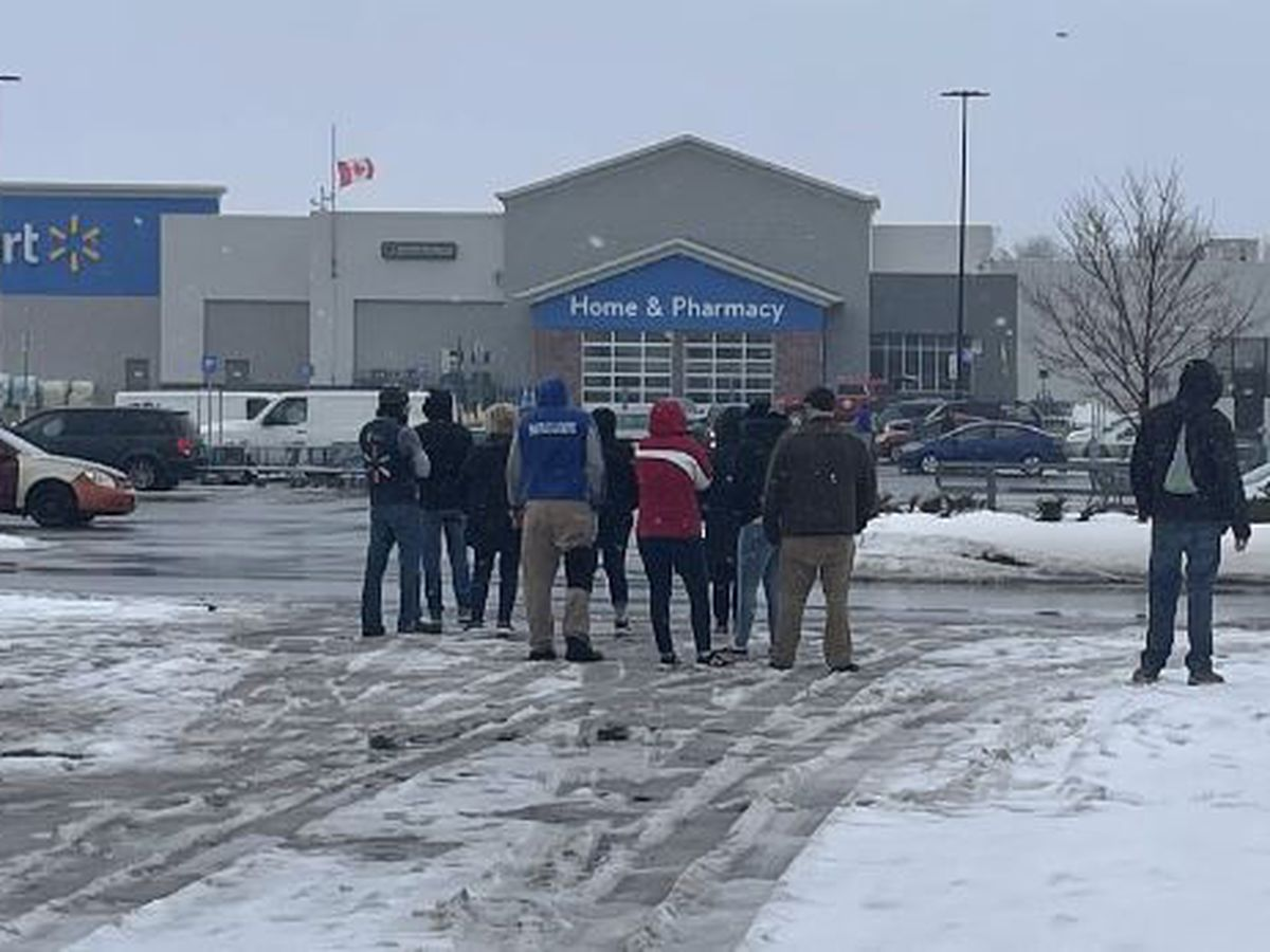 Walmart Supercenter evacuated after payloader strikes gas line
