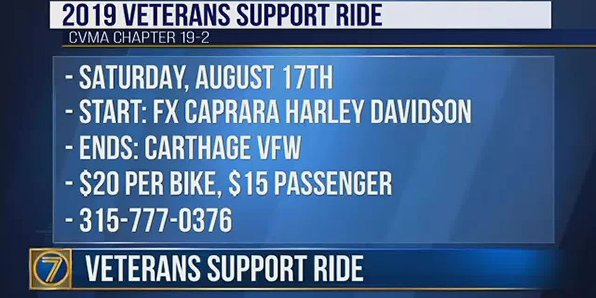 Get ready for the Veterans Support Ride