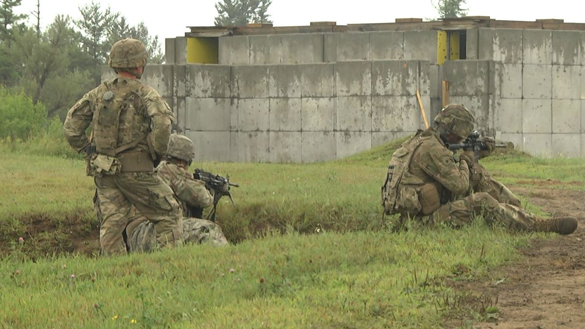 At Fort Drum, firing away, getting ready