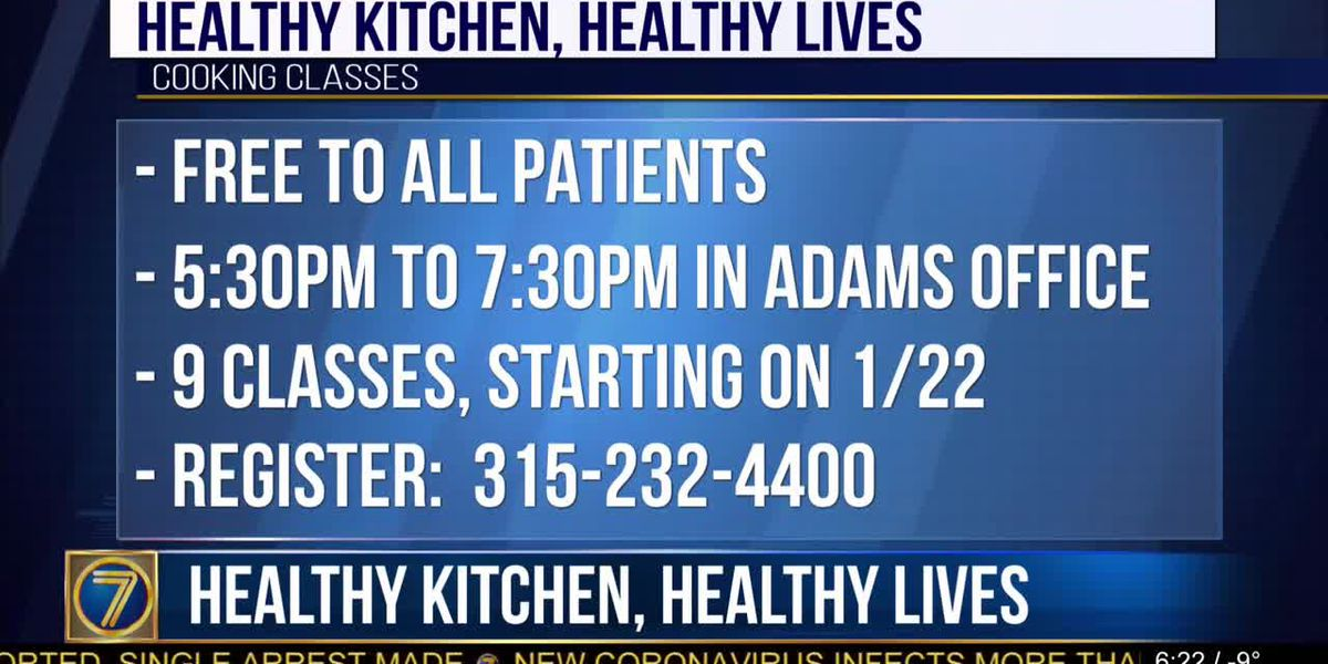 'Healthy Kitchen, Healthy Living' classes offered