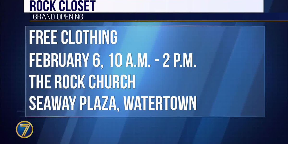 The Rock Church offering free clothing