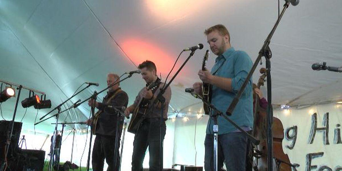 Bluegrass fills the air near Lowville