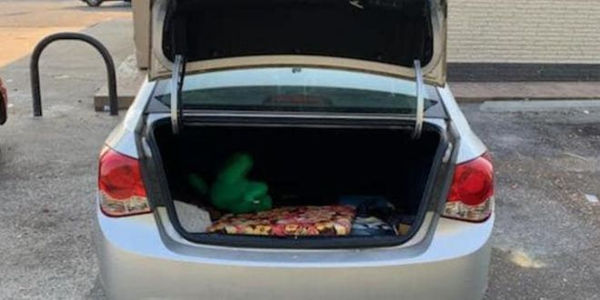A driver traveled 50 miles with a stranger in her car's trunk. She didn't realize it until she stopped for gas.