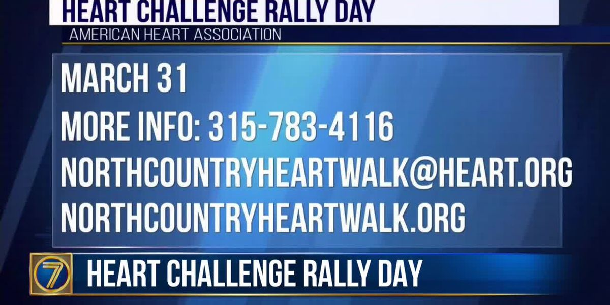 WWNY Heart Rally Challenge Day coming up next week