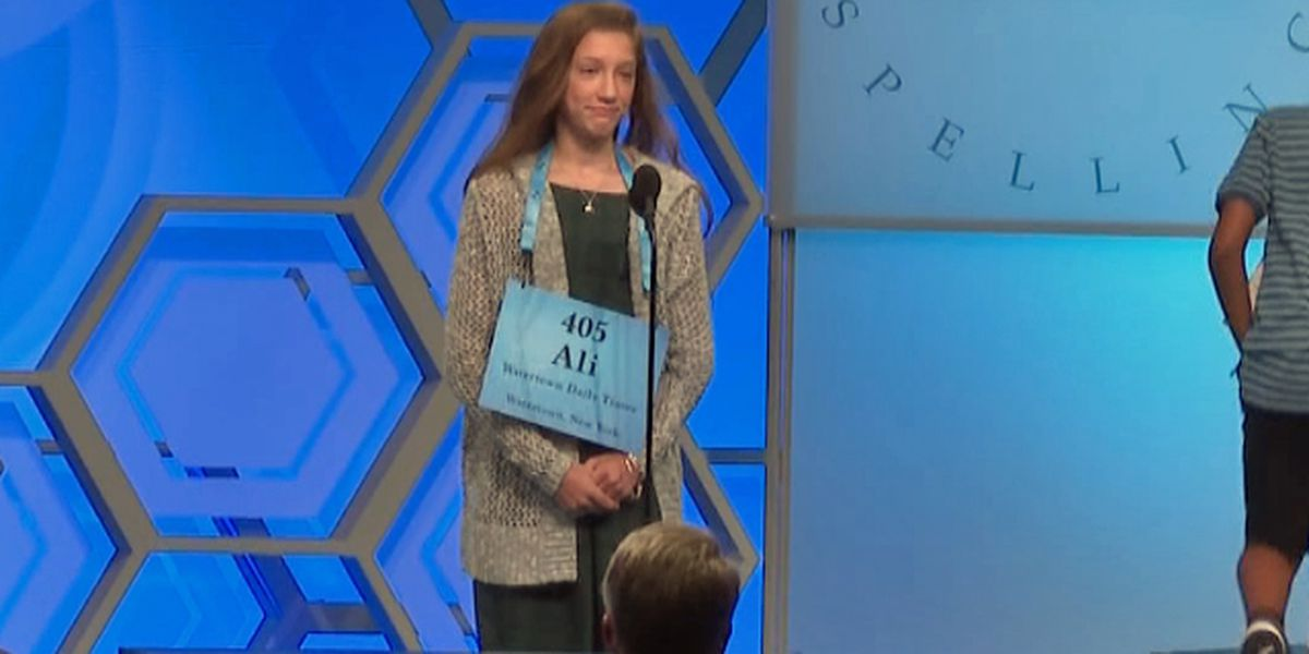 Local spelling bee competitor tripped up in third round