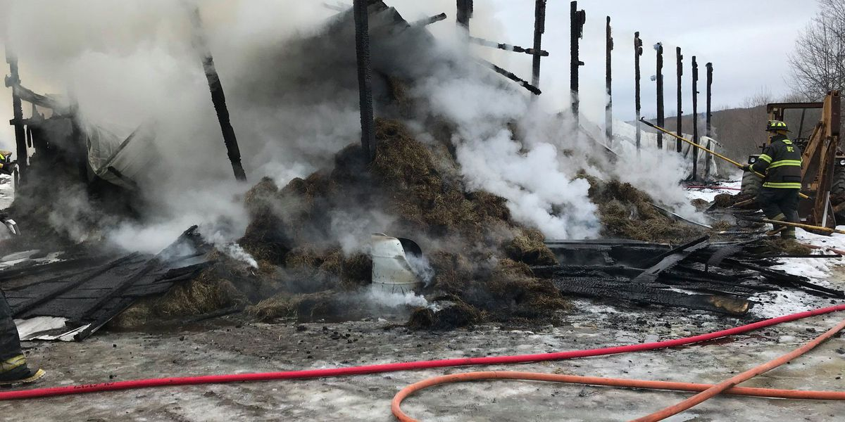 Fire destroys barn, Lewis County volunteers douse flames