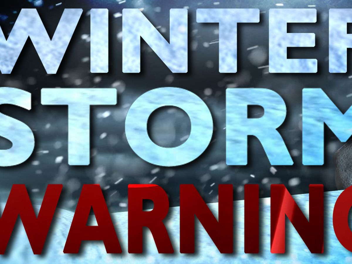 Winter storm warning issued for parts of north country