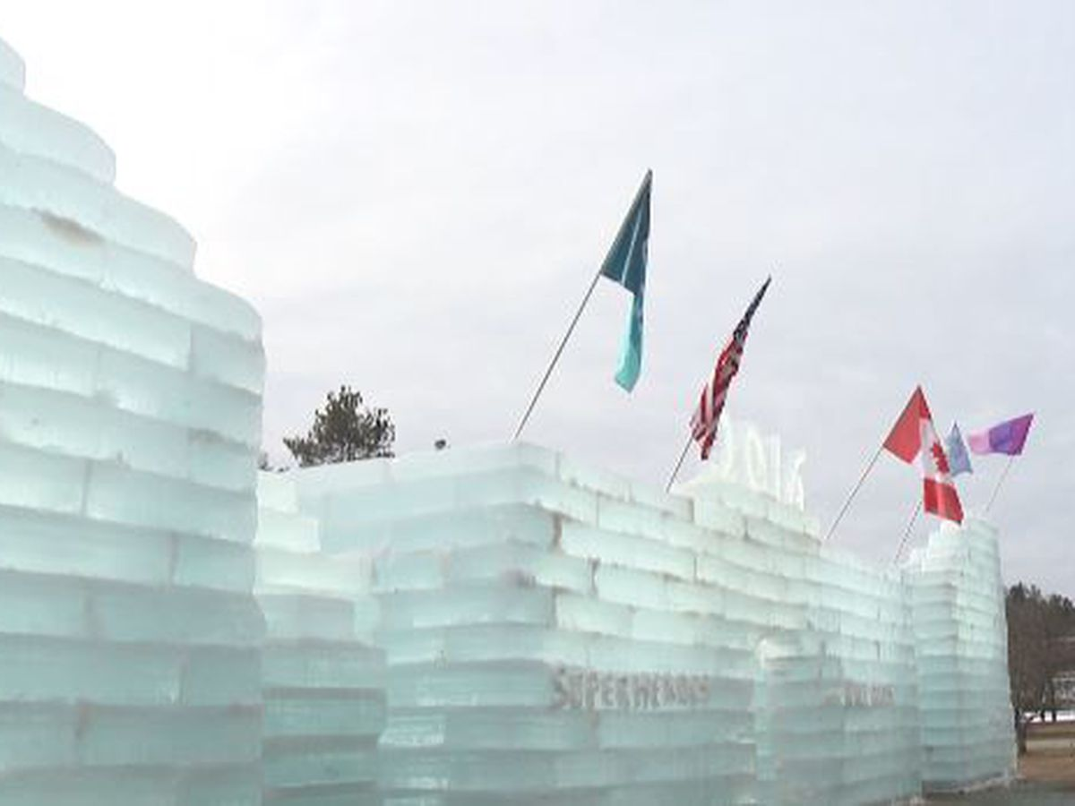 Ice Palace Construction Begins