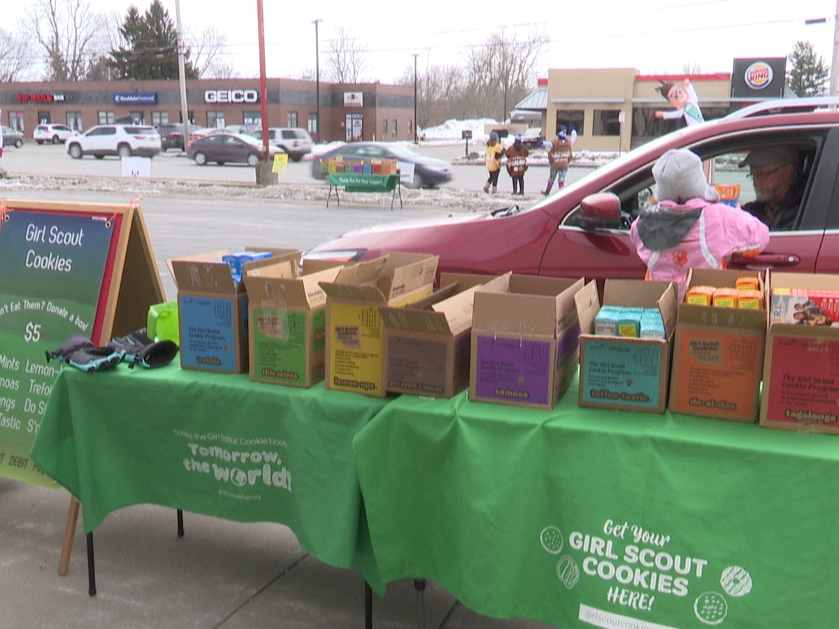 Girl Scout troop's cookie drive-thru sells hundreds, bigger goal in mind