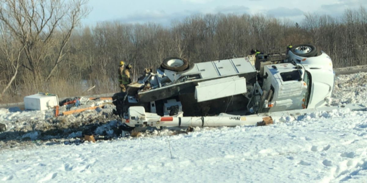 Watertown man faces DWI charge after bucket truck rollover