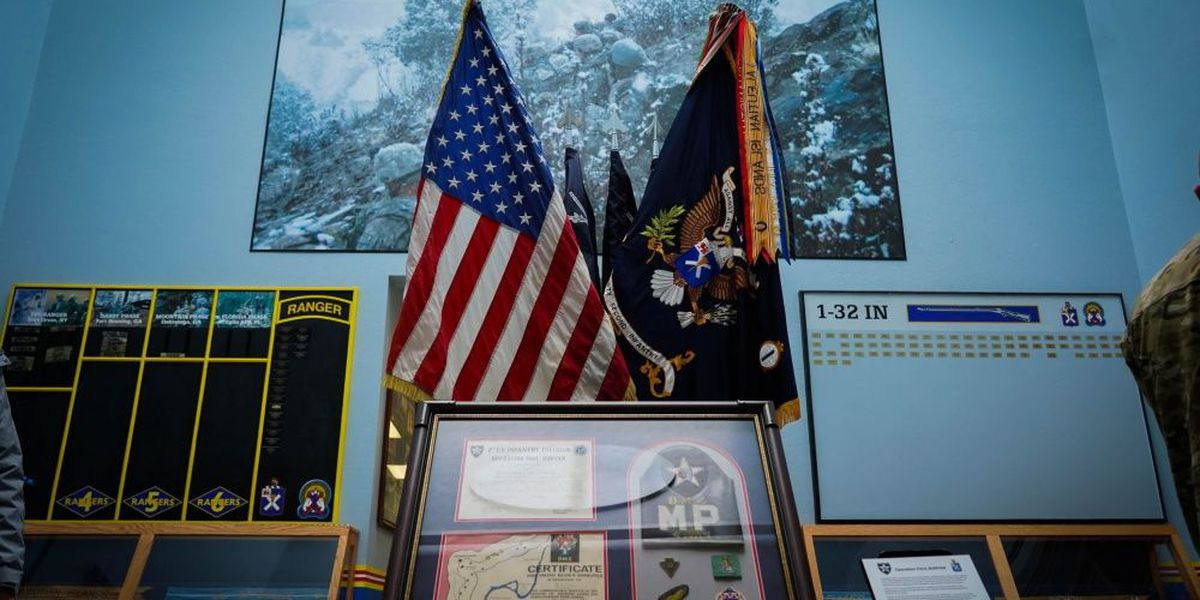 Display unveiled on Fort Drum