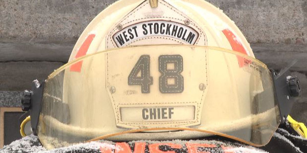 Community mourns death of West Stockholm's fire chief