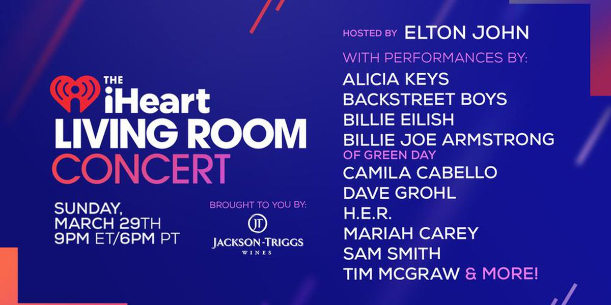 Where To Watch 'iHeart Living Room Concert For America' On Sunday Night