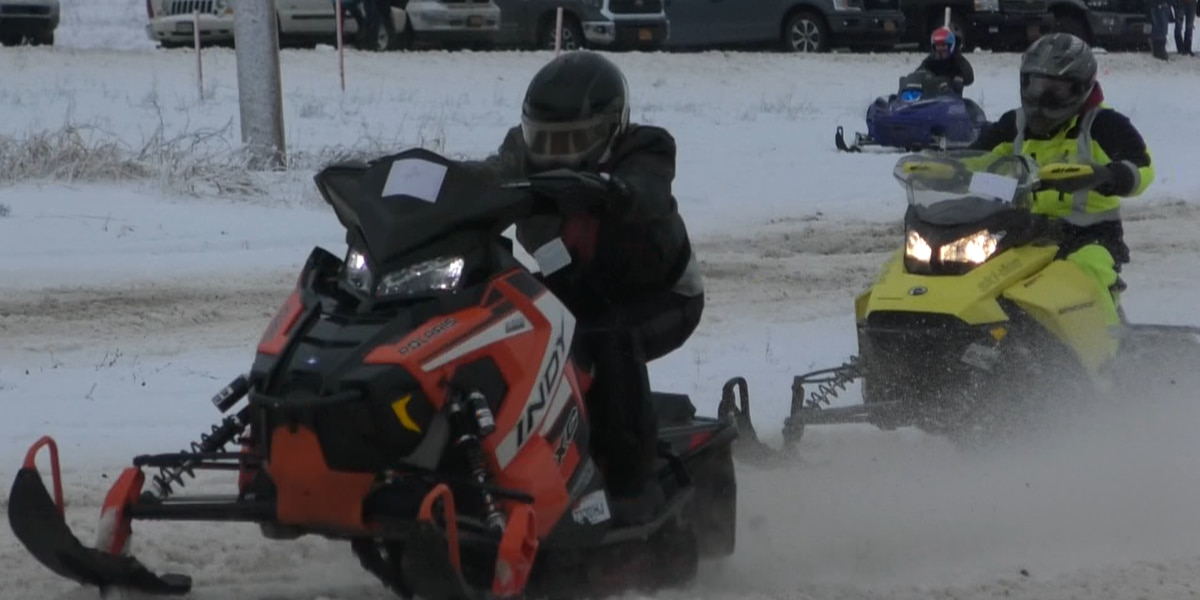 Snowmobilers are revving into the new year in Turin
