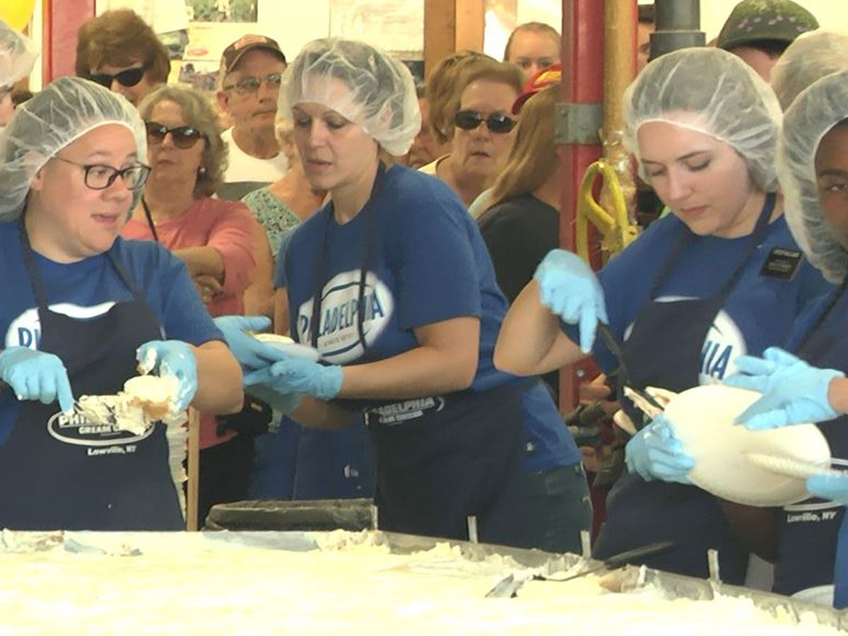 Cream cheese fest draws thousands to Lowville