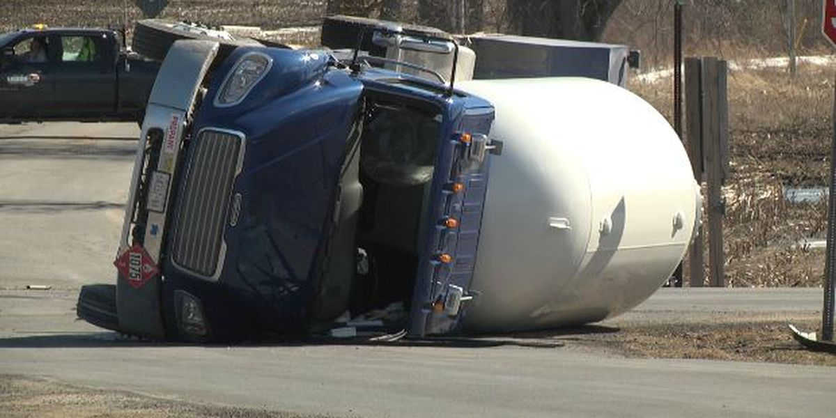 Driver ticketed in propane tanker crash