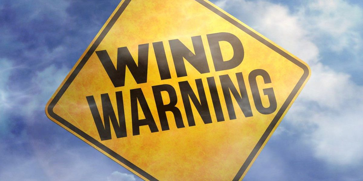 Strong winds expected Sunday, alerts issued