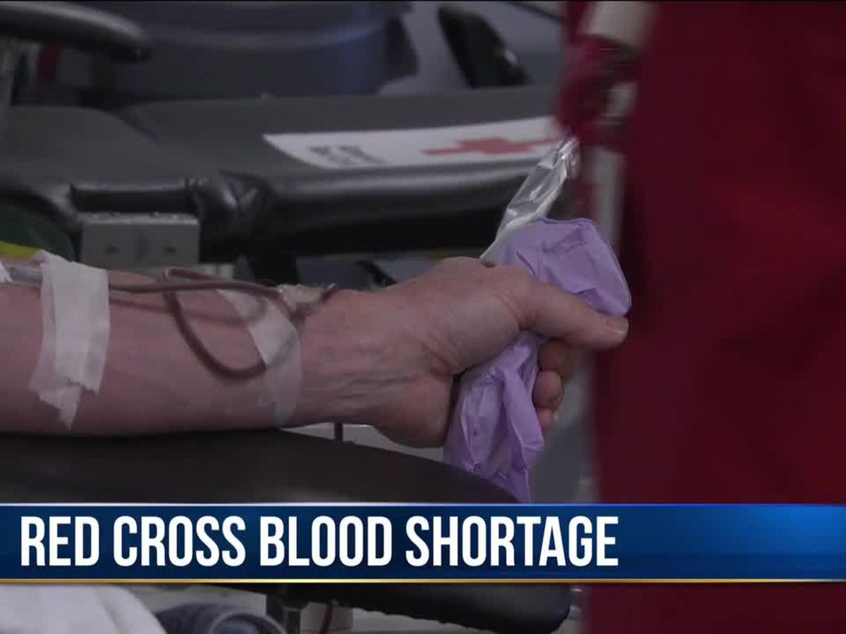 Red Cross reports critical shortage of Type O blood